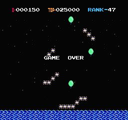 une photo d'écran de Balloon Fight sur Nintendo Nes