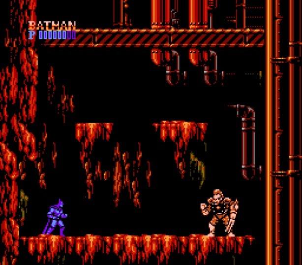 une photo d'écran de Batman - The Video Game sur Nintendo Nes