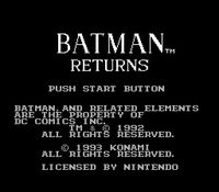une photo d'écran de Batman Returns sur Nintendo Nes