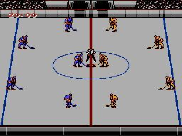 une photo d'écran de Blades of Steel sur Nintendo Nes