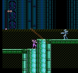 une photo d'écran de Blue Shadow sur Nintendo Nes