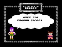une photo d'écran de Dragon Ball - Le secret du dragon sur Nintendo Nes