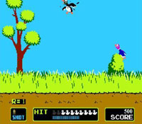une photo d'écran de Duck Hunt sur Nintendo Nes