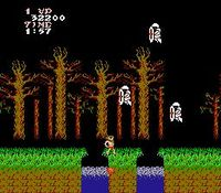une photo d'écran de Ghosts n Goblins sur Nintendo Nes