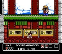 une photo d'écran de Hammerin Harry sur Nintendo Nes