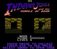 une photo d'écran de Indiana Jones and the Temple of Doom sur Nintendo Nes