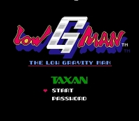 une photo d'écran de Low G Man sur Nintendo Nes