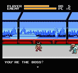 une photo d'écran de Mighty Final Fight sur Nintendo Nes