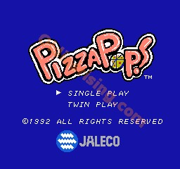 une photo d'écran de Pizza Pop sur Nintendo Nes