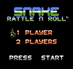 une photo d'écran de Snake Rattle n Roll sur Nintendo Nes
