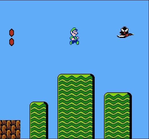 une photo d'écran de Super Mario Bros 2 sur Nintendo Nes