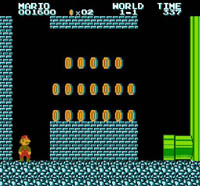 Super Mario Bros, capture d'écran