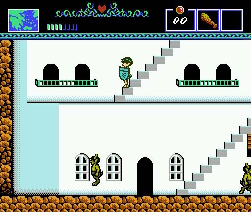 une photo d'écran de The Battle of Olympus sur Nintendo Nes