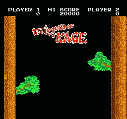 une photo d'écran de The Legend of Kage sur Nintendo Nes
