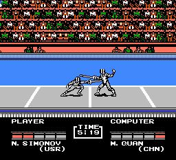 une photo d'écran de Track and Field 2 sur Nintendo Nes