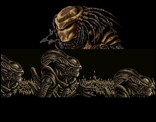 une photo d'écran de Alien VS Predator (Super Nintendo) sur Nintendo Super Nes