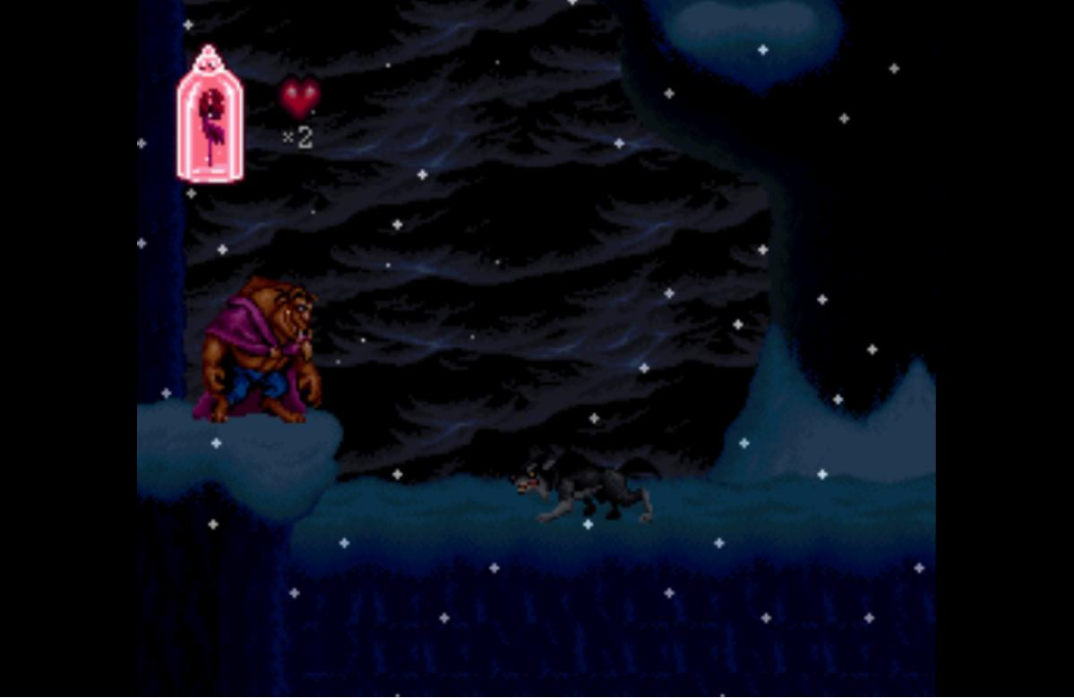une photo d'écran de Beauty and the Beast sur Nintendo Super Nes