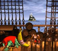 une photo d'écran de Donkey Kong Country sur Nintendo Super Nes