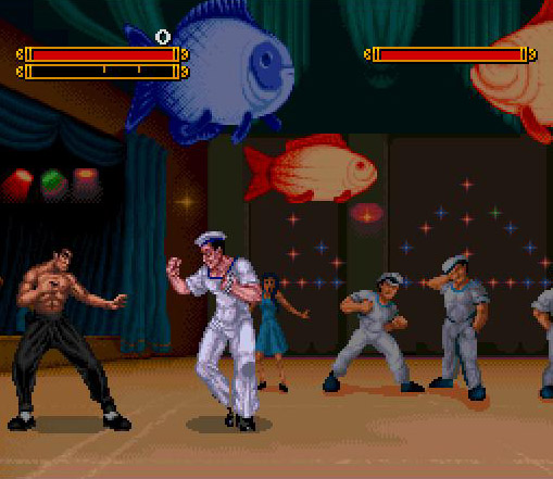 une photo d'écran de Dragon - The Bruce Lee Story sur Nintendo Super Nes