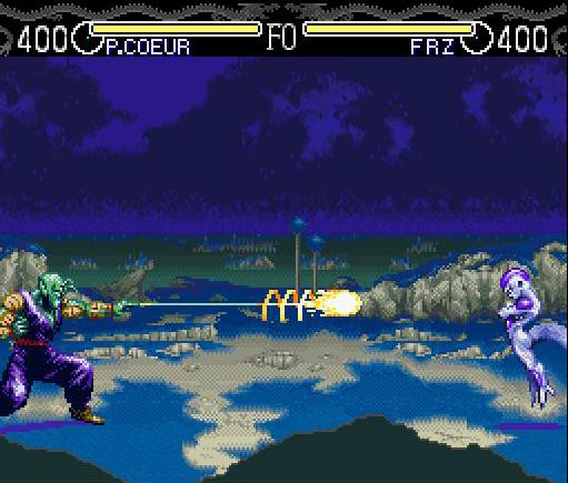 une photo d'écran de Dragon Ball Z - Hyper Dimension sur Nintendo Super Nes