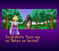 une photo d'écran de Dragon Ball Z - La Legende Saiyen sur Nintendo Super Nes