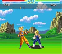 une photo d'écran de Dragon Ball Z - Ultime Menace sur Nintendo Super Nes