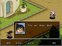 une photo d'écran de Dragon Ball Z Super Gokuden - Totsugeki-Hen sur Nintendo Super Nes