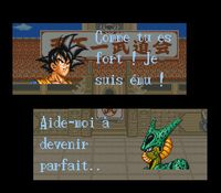 une photo d'écran de Dragon Ball Z sur Nintendo Super Nes