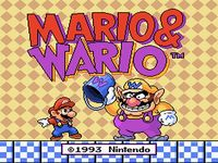 une photo d'écran de Mario and Wario sur Nintendo Super Nes
