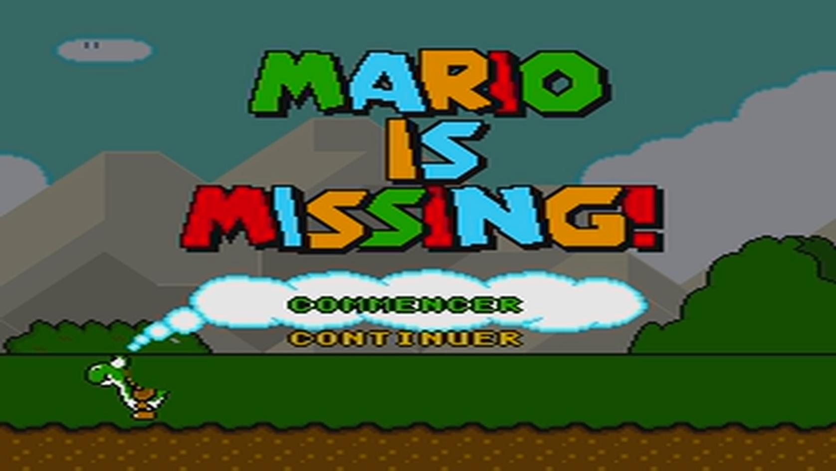 une photo d'écran de Mario is Missing sur Nintendo Super Nes