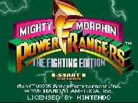 Mighty Morphin Power Rangers Fighting Edition, capture d'écran