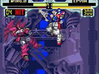 une photo d'�cran de Mobile Suit Gundam Wing - Endless Duel sur Nintendo Super Nes