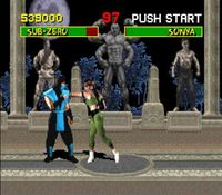 Mortal Kombat, capture décran