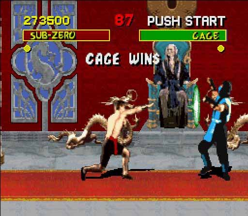 une photo d'écran de Mortal Kombat sur Nintendo Super Nes