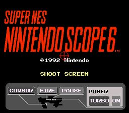 une photo d'écran de Nintendo Scope 6 sur Nintendo Super Nes