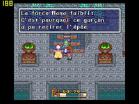 une photo d'écran de Secret of Mana sur Nintendo Super Nes