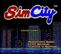 Sim City, capture d'écran