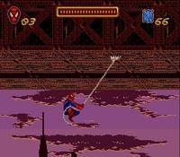 une photo d'écran de Spider-Man sur Nintendo Super Nes