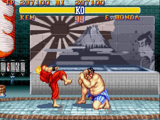 une photo d'écran de Street Fighter 2 - The World Warrior sur Nintendo Super Nes