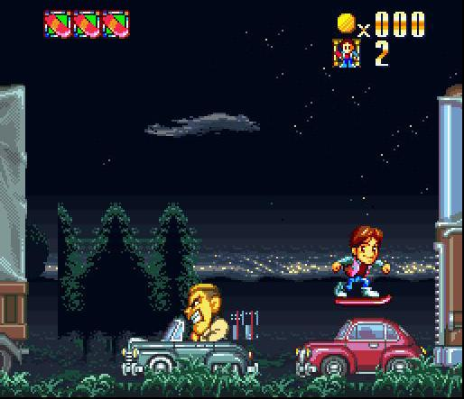 une photo d'écran de Super Back to the Future Part II sur Nintendo Super Nes