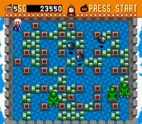 une photo d'écran de Super Bomberman sur Nintendo Super Nes
