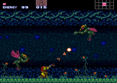 une photo d'écran de Super Metroid sur Nintendo Super Nes