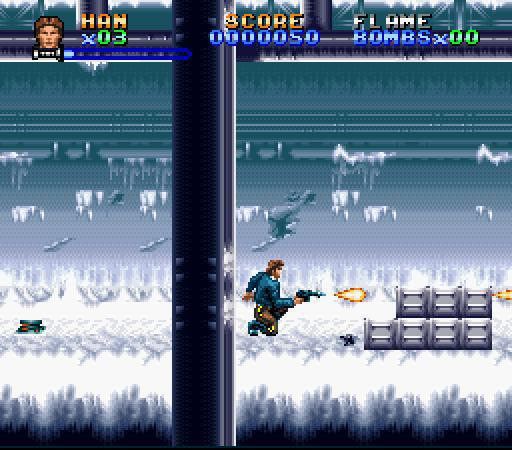 une photo d'écran de Super Star Wars - The Empire Strikes Back sur Nintendo Super Nes