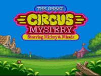 une photo d'écran de The Great Circus Mystery Starring Mickey and Minnie sur Nintendo Super Nes