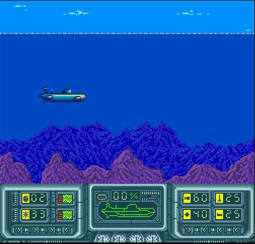 une photo d'écran de The Hunt For Red October sur Nintendo Super Nes