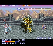 une photo d'écran de The King of Dragons sur Nintendo Super Nes