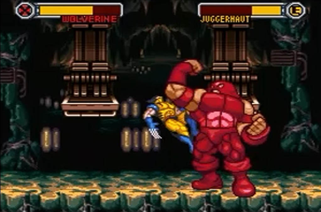 une photo d'écran de X-Men Mutant Apocalypse sur Nintendo Super Nes