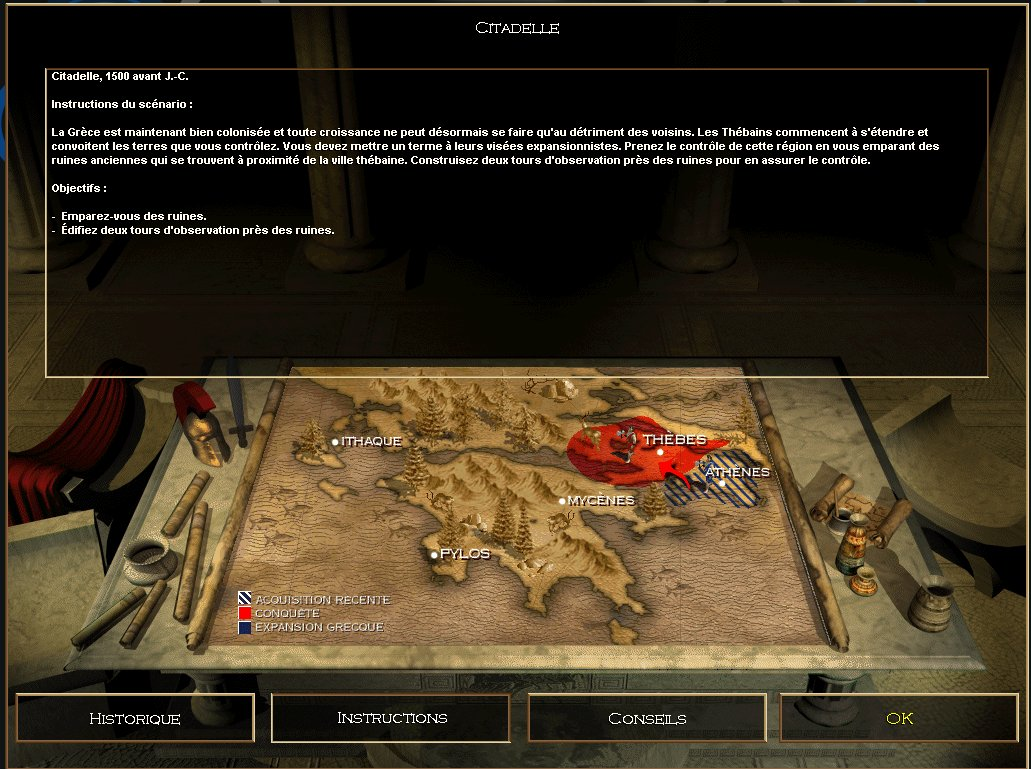 une photo d'écran de Age of Empires sur PC