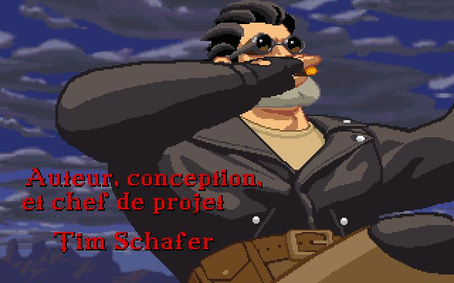 une photo d'écran de Full Throttle sur PC