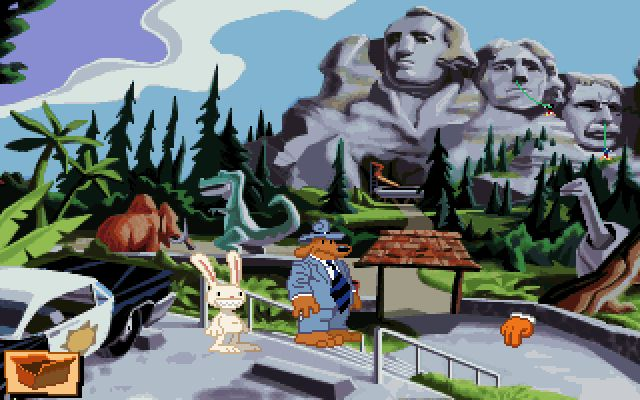 une photo d'écran de Sam And Max Hit The Road sur PC